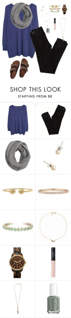 """""""SO BORED HELP"""" by oliveee-heinzzz ❤ liked on Polyvore featuring MANGO, American Eagle Outfitters, J.Crew, Stella & Dot, Mattia Cielo, Kendra Scott, MICHAEL Michael Kors, NARS Cosmetics, Essie and Birkenstock"""