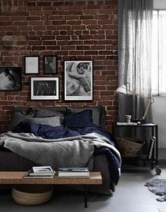 3 Masculine Bedroom Interior Designs And Tips For Men Home Bedroom, Bedroom Decor, Bedroom Ideas, Master Bedroom, Bedroom Lamps, Bedroom Lighting, Bedroom Designs, Loft Style Bedroom, Bedroom Images
