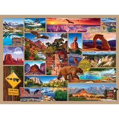 A fun collage of our wonderful US National Parks. There are so many great images from our National Parks it only makes sense to put them together in this puzzle. A vacation without leaving your home. Jigsaw Puzzle Store, New Puzzle, 500 Piece Jigsaw Puzzles, Us National Parks, Grand Teton National Park, Model Hobbies, Fabric Patch, Puzzles For Kids, Best Memories