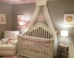 Bed Crown Canopy, Crib Crown, Girl Bedroom, Cornice, All wood Material, Hardware included.  Our Bed / Crib Crowns are made of the highest quality wood, finishes and hardware. We take pride in our products, giving you, what we would expect. Crown easily slips over provided wall bracket and is completely secure. Crown has a sturdy metal rod attached for easy hanging of drapes, sheers, or any fabric you desire. Installation instructions and all hardware is provided. MEASURES: 24 wide x 8 de...