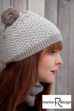 Marion R: Zigzaglue Zig Zag, Knitted Hats, Winter Hats, Knitting, Pattern, Design, Fashion, Moda, Tricot