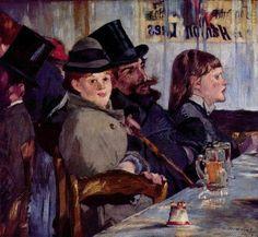 Edouard Manet Édouard Manet | At The Cafe, 1878  (óleo sobre tela - Oskar Reinhart Foundation, Winterthur, Switzerland)