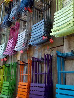 cafe chairs, Flora Grubb, San Francisco