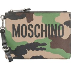 Moschino camouflage clutch bag (3.585.910 IDR) ❤ liked on Polyvore featuring bags, handbags, clutches, multi colored clutches, colorblock purse, colorful handbags, camoflauge purse and multicolor handbags