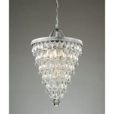 Perfect replica of a Pottery Barn chandelier for half the price ($175.99) Perhaps for a bathroom or C-line's next room?