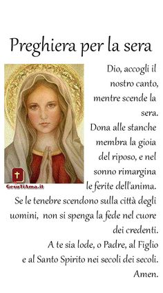 Preghiera per la sera per andare a dormire sereni I Love You Mother, Mother Mary, Madonna, Prayers For Healing, Healing Prayer, Santa Teresa, Holy Mary, Pray For Us, Quotes About God