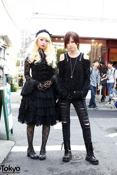 Gothic Harajuku Fashion With Algonquins Metamorphose Black Lace Wallpaper Asian Street Style, Japanese Street Fashion, Tokyo Fashion, Harajuku Fashion, Punk Fashion, Lolita Fashion, Gothic Fashion, Fashion Outfits, Fashion Ideas