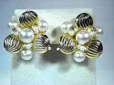 Vintage Jewelry Gold Tone Faux Pearl Clip On Earrings http://www.ebay.com/itm/Vintage-Jewelry-Gold-Tone-Faux-Pearl-Clip-On-Earrings-/141620007605?pt=LH_DefaultDomain_0&hash=item20f935d2b5