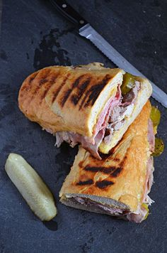 Crock Pot, Slow Cooker Cuban Sandwich. Easy to make, easy to serve, easy to pack and easy to clean up. Great summer sandwich that frees up time to enjoy summer activities!