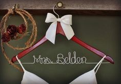 ON SALE Personalized Wedding Hanger, bridesmaid gifts, name hanger, brides hanger
