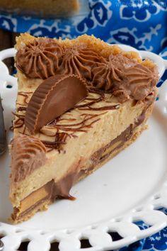 Easy Peanut Butter Pie, Peanut Butter Dessert Recipes, Peanut Butter Chocolate Pie, Köstliche Desserts, Pie Dessert, Top Recipes, Candy Recipes, Pasta Recipes, Dinner Recipes