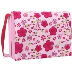 15.4 Inch Pink Blossom Floral Pattern Computer Padded Compartment Carrying Case Laptop Notebook Shoulder Messenger Bag for MacBook Pro Sony Samsung Acer Toshiba (Office Product) #macbook