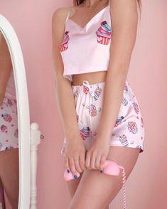 Cute Sleepwear, Sleepwear Women, Pajamas Women, Girly Girl Outfits, Cute Summer Outfits, Cute Outfits, Cute Pajama Sets, Cute Pajamas, Cute Pjs For Women