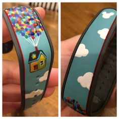 Painted my Magic Band with the Up balloons! Ready for an adventure!