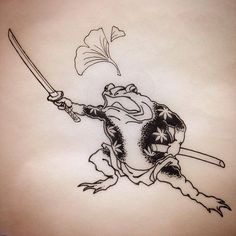 Tattoos From Around The World – Voyage Afield Frog Tattoos, Body Art Tattoos, Tattoo Drawings, Small Tattoos, Sleeve Tattoos, Japanese Tattoo Art, Japanese Tattoo Designs, Traditional Japanese Tattoos, Asian Tattoos
