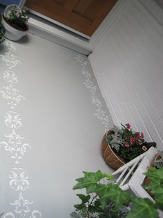 Beautiful stencilled porch