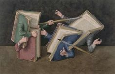 Jonathan Wolstenholme is a British artist and illustrator best known for his amazingly detailed works deriving from a love of old books. Books on Books is a series Writing Contests, Library Art, World Of Books, Sharjah, I Love Books, Beautiful Paintings, Art Forms, Book Worms, Fantasy Art