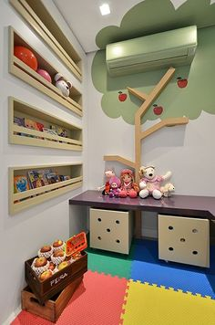Carolina Rocca Playroom Design, Kids Room Design, Room Interior, Interior Design Living Room, Cabinet Medical, Dental Office Design, Kid Beds, Boy Room, Kids Bedroom