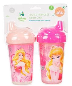 "Disney Princess ""Aurora Medley"" 2-Pack Sipper Cups (10 oz.) - pink, one size Disney"