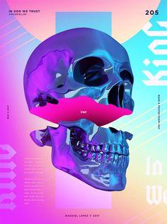 Magdiel Lopez poster design, In God We Trust