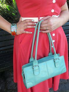 ##Seafoam and Coral  green dresses #2dayslook #green style #greenfashion  www.2dayslook.com