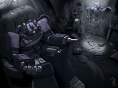 Shockwave after learning about his future demise from the time traveling Cyclonus in the old Marvel UK comics. Shockwave Transformers, Transformers Optimus Prime, Shock Wave, Fanart, Comic Book Characters, Deviantart, Cartoon, Comics, Scientists