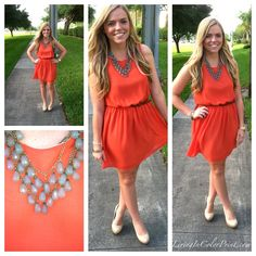Spring is in the air {tangerine dress}