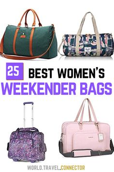 The ultimate collection of the best women's weekender bags for weekend gateways, short trips, travel and beyond I Best Weekend Bags for Women I Leather Weekend bags for Women I Canvas Weekend Bags for Women I Travel Weekend Bags for Women I Fashion Weekend Bags for Women I Large Weekender Bag I Small Weekender Bag for Women I #Weekend #Bag #Women #Travel #Best #Weekender Canvas Weekender Bag, Weekend Bags, Best Hiking Shoes, Packing Tips For Vacation, Best Luggage, Best Flights, Travel Items, Travel Wardrobe, Ultimate Collection