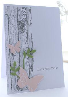 Beautiful Wings Embosslits, Bird Builder Punch, Woodgrain Background Stamp