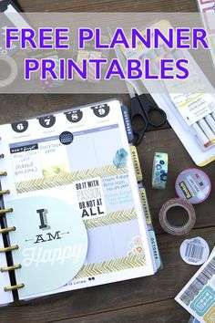 These Free Planner Printables are an awesome, inexpensive idea to create a diy planner.