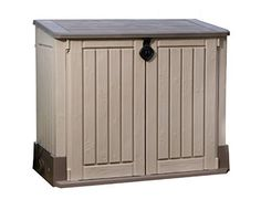 Keter Store-It-Out MIDI Outdoor Resin Horizontal Storage Shed, http://www.amazon.com/dp/B00CA36ZKY/ref=cm_sw_r_pi_awdm_n2Qixb0Y1G6T5