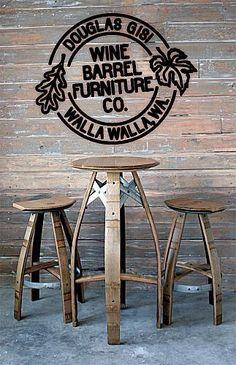 wine barrel furniture   Douglas Gisi Wine Barrel Furniture Co. in Touchet, WA - YellowBot