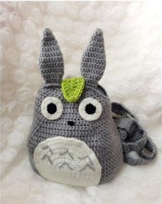 This kawaii Totoro backpack will Hand crocheted with Love and care Can be used for school, for the day, travel, anywhere! size: High: 24 cm (+-2cm)  Care: Hand wash in cold water with mild soap and lay flat to dry. All Items are made by me in a smoke free and pet free home.