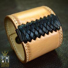 Leather cuff Bracelet American Western Saddle Original design by Freddie Matara-SR