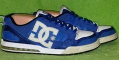 DC General SN Men's Stylish Blue & White Skate Shoes Size 9 Very Good Condition #DC #Skateboarding