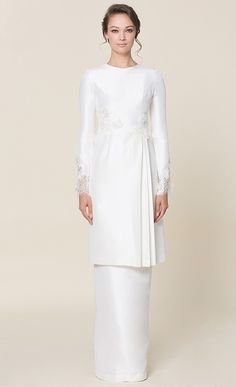 nh by NURITA HARITH étoile - LILY Kurung in White | FashionValet