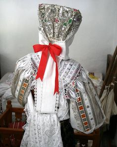 Original detviansky kroj - Podpoľanie, Slovakia Folk Costume, Needlework, African, European Countries, Embroidery, Czech Republic, Prague, Unique, Pattern