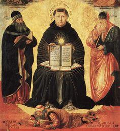 Benozzo Gozzoli - Benozzo Gozzoli, Trionfo di san Tommaso d'Aquino, particolare, Parigi, Museo del Louvre, 1470 - 1475