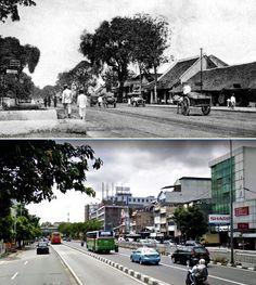 Straat in Kramat te Batavia. Circa 1920., ,.,  jl Kramat Raya, Jakarta, 2016
