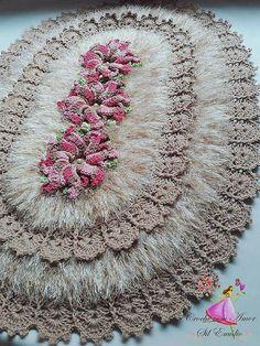 Crochet Mat, Crochet Dishcloths, Freeform Crochet, Tunisian Crochet, Crochet Home, Learn To Crochet, Crochet Doilies, Free Crochet, Crochet Shawl