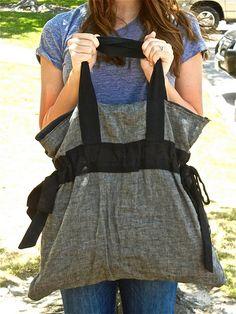 DIY bag. LOVE this!