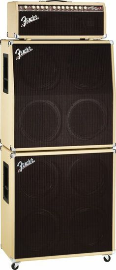 Fender Super-Sonic 100 100W Tube Guitar Amp Head  Blonde Stack, Right-Facing