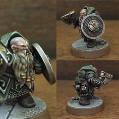 Sunday painting session, the Dwarf Ranger. Waiting for a small crossbow to add to rear left belt line next to backpack; other than that - part 1 of 3 stage character done. #dwarf #warhammer #warhammerquest