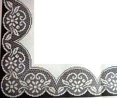 New crochet lace heart table runners ideas Crochet Doily Diagram, Filet Crochet Charts, Crochet Borders, Crochet Cross, Crochet Trim, Crochet Lace, Crochet Stitches, Crochet Dollies, Crochet Gifts