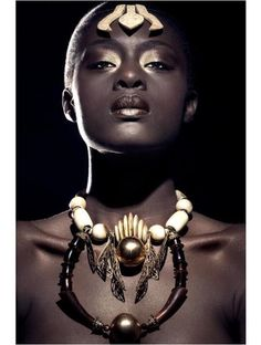 The relationship between Afrofuturism, Slavery and Cultural alienation of Africans in the diaspora and how the interruption to Black Identity can be bridged African Beauty, African Women, African Fashion, My Black Is Beautiful, Beautiful Women, Skin Girl, We Are The World, African Jewelry, Tribal Jewelry