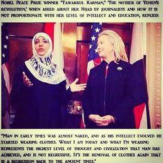 fascinating and amazing statement on HIJAB by Nobel Peace Prize Winner 'Tawakkul Karman'
