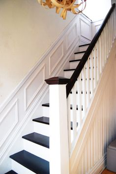 DIY Duel: Staircase Restoration – It's done! – Little House On The Corner – Home Renovation Stair Banister, Stair Walls, Wood Staircase, Staircase Remodel, Staircase Makeover, Banisters, Staircase Design, Staircase Ideas, Staircases