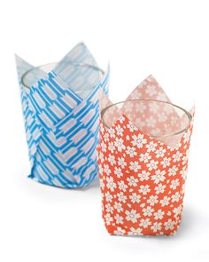 Origami Votive Wraps