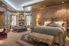The master bedroom is a relaxing retreat, with a spacious sitting area and…