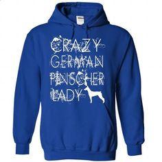 Crazy German Pinscher Lady. - custom t shirt #shirt #clothing